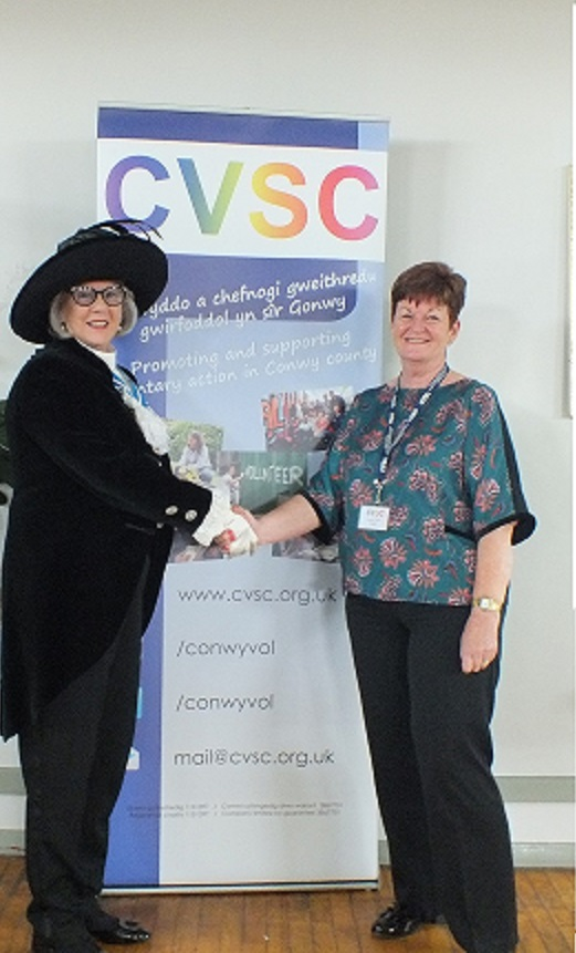 High Sheriff of Clwyd Stephanie Catherall and CVSC Chief Officer Wendy Jones