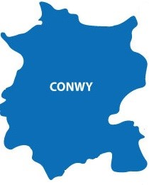 Conwy County Borough Island Logo