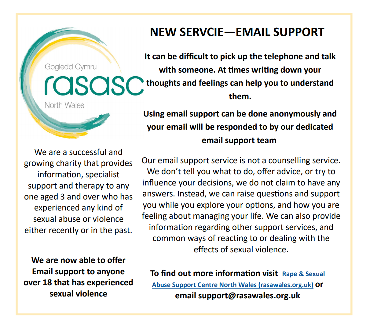 RASASC NW Email Support